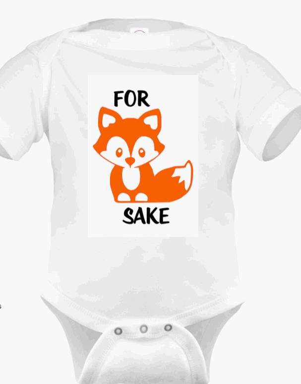 fc739b3d3 For Fox Sake ~ Oh For Fox Sake ~ Cute Baby Onesie!! Baby Fox Onesie ~  Infant, Toddler, & Adult Shirts Available ~ What's the Fox Say? by  WilliamsWantables ...