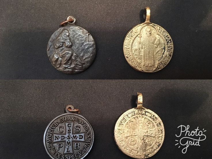 Vintage Saint Benedict Medals / Pendants – 2 Pcs ; With Sacro Speco Image in Collectables, Cultural, Religious, Religious | eBay!