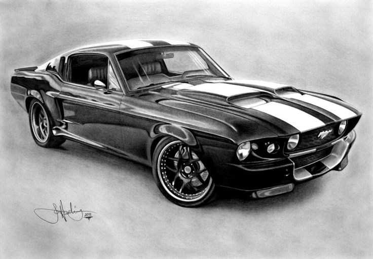 Mustang GT500 drawing by WhizzieWhizzer.deviantart.com on @deviantART