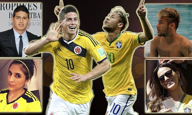 Neymar vs James Rodriguez: The two superstars head-to-head #DailyMail http://www.aliexpress.com/store/1231629