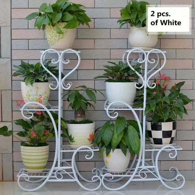 4 Tier Versatile Indoor Plant Shelf Decorative Metal Plant Stand Plant Holder House Plants Decor Plant Decor Plant Stand