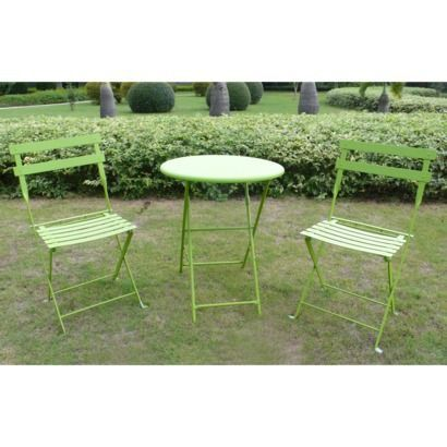 lime green patio furniture. folding metal patio bistro furniture set green for the front deck area lime