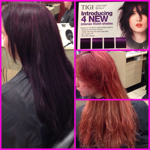 New Colors TIGI 5522 3322 Violet Tigi Color  Alejandro Beauty Page  Pin