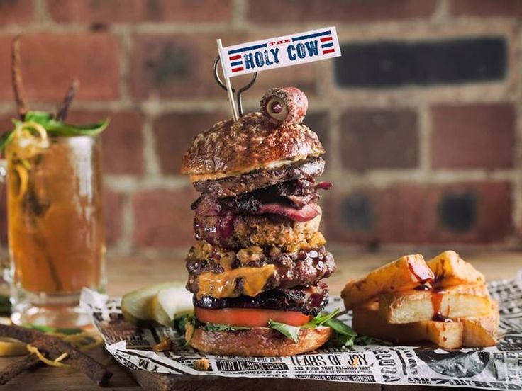 Behold the Burger with 17 Types of Beef From England's Red's True Barbecue - Eater