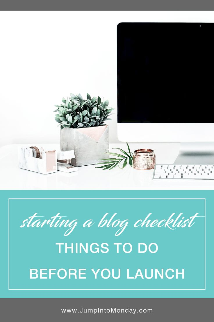 Starting A Blog Checklist: Things To Do Before You Launch. This is such a helpful list! Pin now.