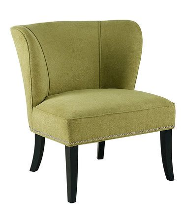 Another great find on #zulily! Green Accent Chair #zulilyfinds
