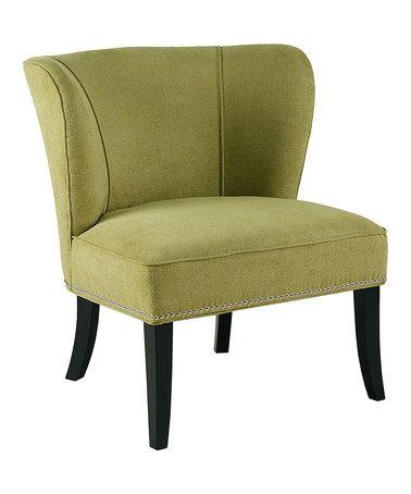 Look at this #zulilyfind! Green Accent Chair #zulilyfinds