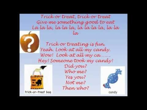 Who took the candy ( from the trick-or-treat bag? ) Halloween Song / Activity