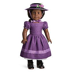Addy's Sunday Best- Dress, Hat with attached ribbon trim.