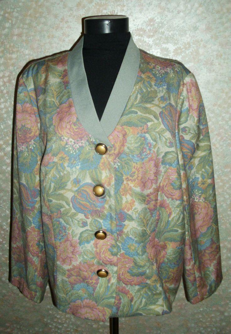 Jacket,Blazer, Vintage jacket, Vintage Paul Mausner jacket, 1970 Vintage jacket,vintage blazer,Vintage Women's jacket by RomanticArtBoutique on Etsy