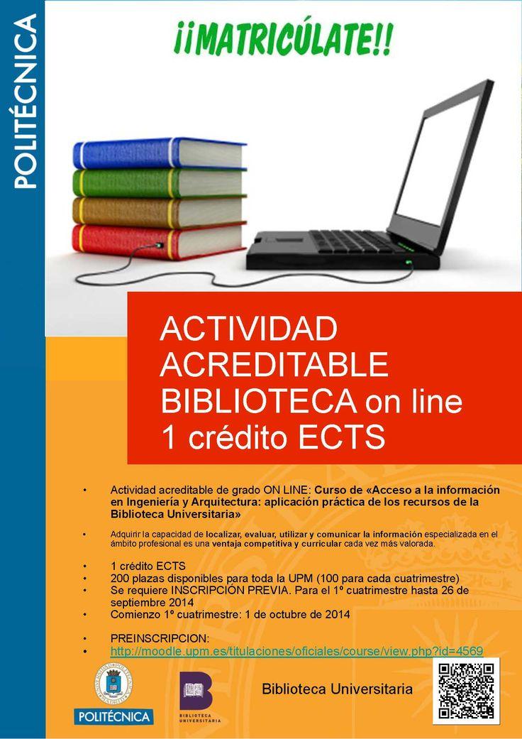Actividad acreditable Biblioteca on line (1 crédito ECTS)