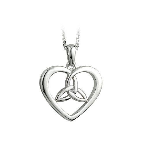 41 best celtic hearts galore images on pinterest celtic heart heart trinity knot necklace sterling silver irish made aloadofball Images