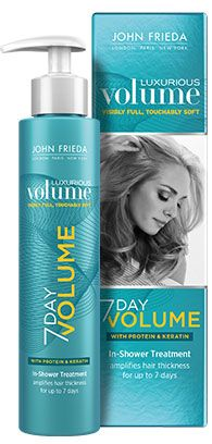 John Frieda Luxurious Volume 7 Day Volume In-Shower Treatment, 1 fl. oz, sealed