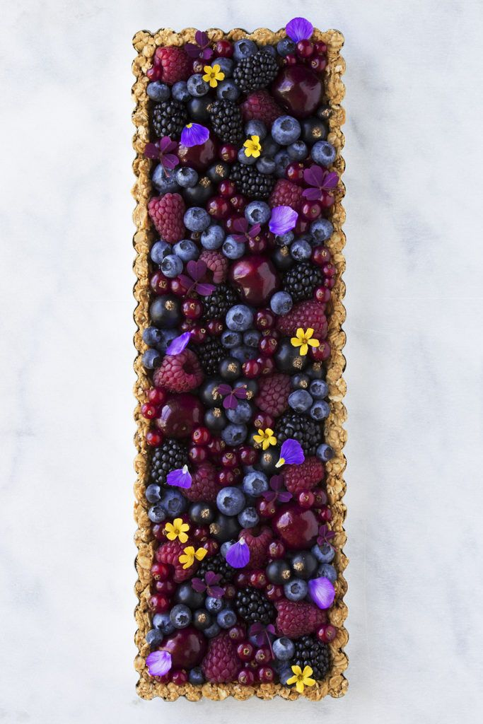 Breakfast Berry Granola Tart by Maja Vase
