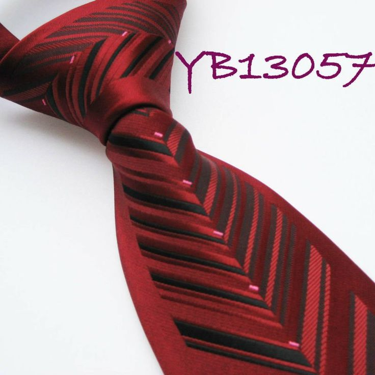 YIBEI Mens ties Bordered Burgundy With Black Dual Stripes Woven Necktie Formal Neck Tie fashion Ties for men dress shirt Wedding on AliExpress.com. $9.99