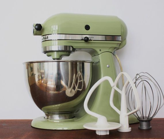 Vintage Avocado Green Kitchenaid Standing Mixer By TheRoughGem