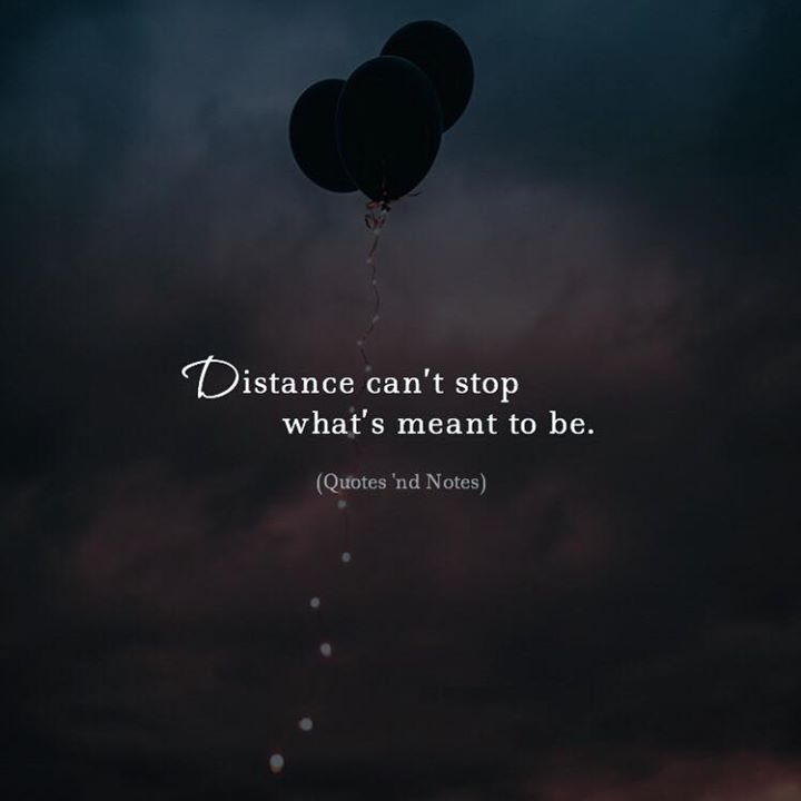 Distance cant stop whats meant to be. via (http://ift.tt/2ndmpMA)