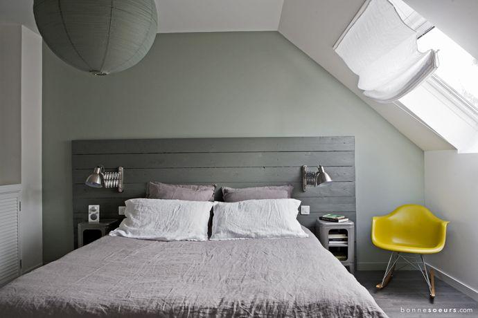 bonnesoeurs decoration suite parentale 06 chambre chevet tolix rocking chair rar eames dahou t. Black Bedroom Furniture Sets. Home Design Ideas