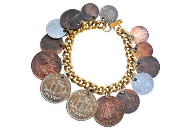 1960s International Coin Bracelet.