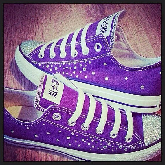 Converse and Wedding Converse / Vans / Nike / Pumps Silver Swarovski Diamonte / Diamante Hand Made To Order US 5 - 10 UK 3- 8 AU 5 - 10