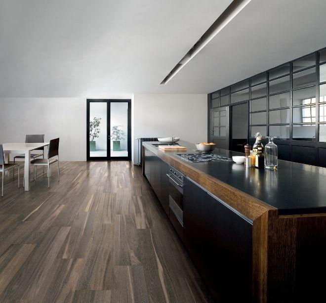 Keuken met tegels hout look-a-like | Kol tegels