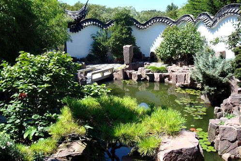 Sailors Snug Harbor, The Chinese Scholar's Garden.  Staten Island, NY.  Seriously, you'd never know you were in one of the biggest cities in the world.