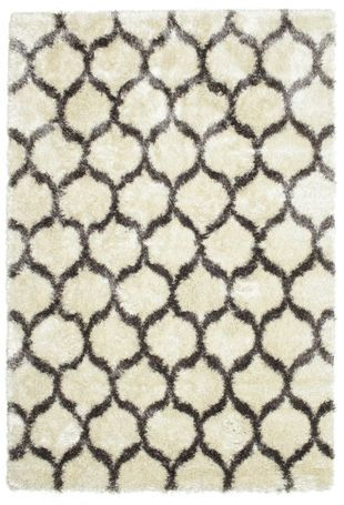 Berber Style Shaggy Regal   Off White/Beige Rug 220x320
