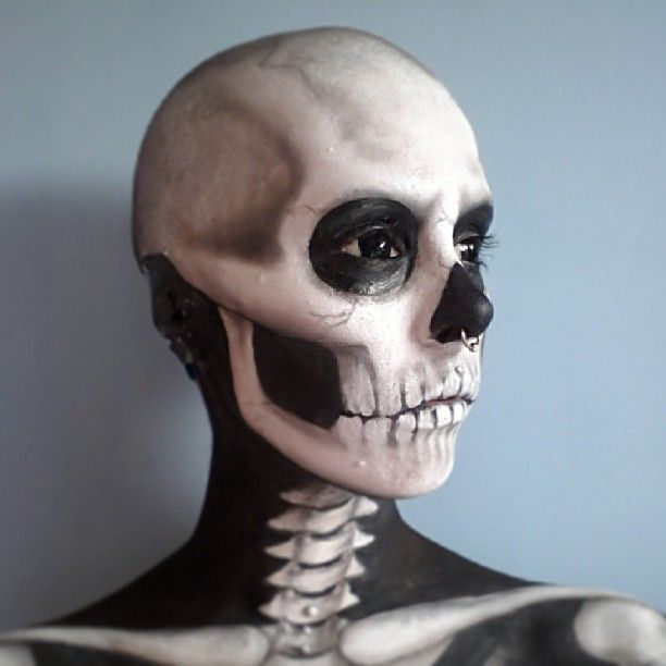 body art skeleton face makeupskull face makeupskeleton face painthalloween - Skeleton Face Paint For Halloween