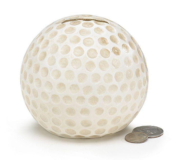 "3 3/4"" Resin Golf Ball Bank"