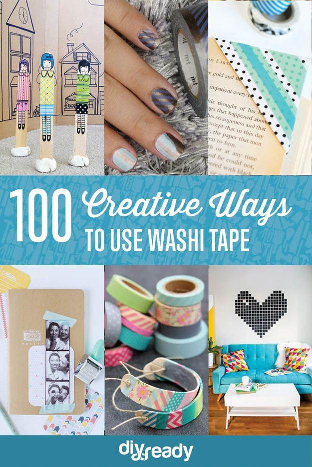 100 Creative Ways to Use Washi Tape by DIY Ready at  http://diyready.com/100-creative-ways-to-use-washi-tape/