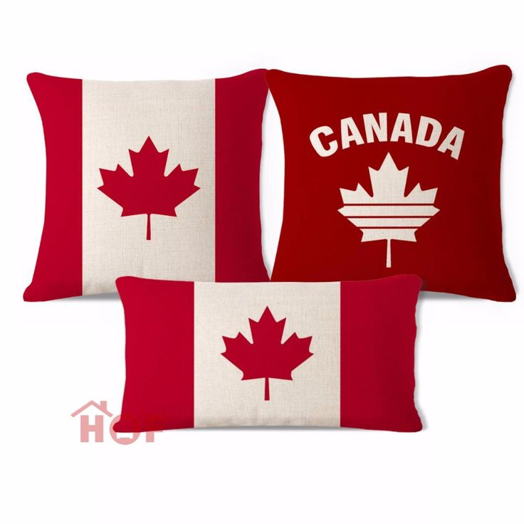 Cheap cushion cover set, Buy Quality decorative throw pillows case directly from China cushion cover Suppliers: Decorative Throw Pillow Case Canada Leaf Flag Red Cotton Linen HEAVY WEIGHT FABRIC Sofa Chair Outdoor Indoor Cushion Cover Set