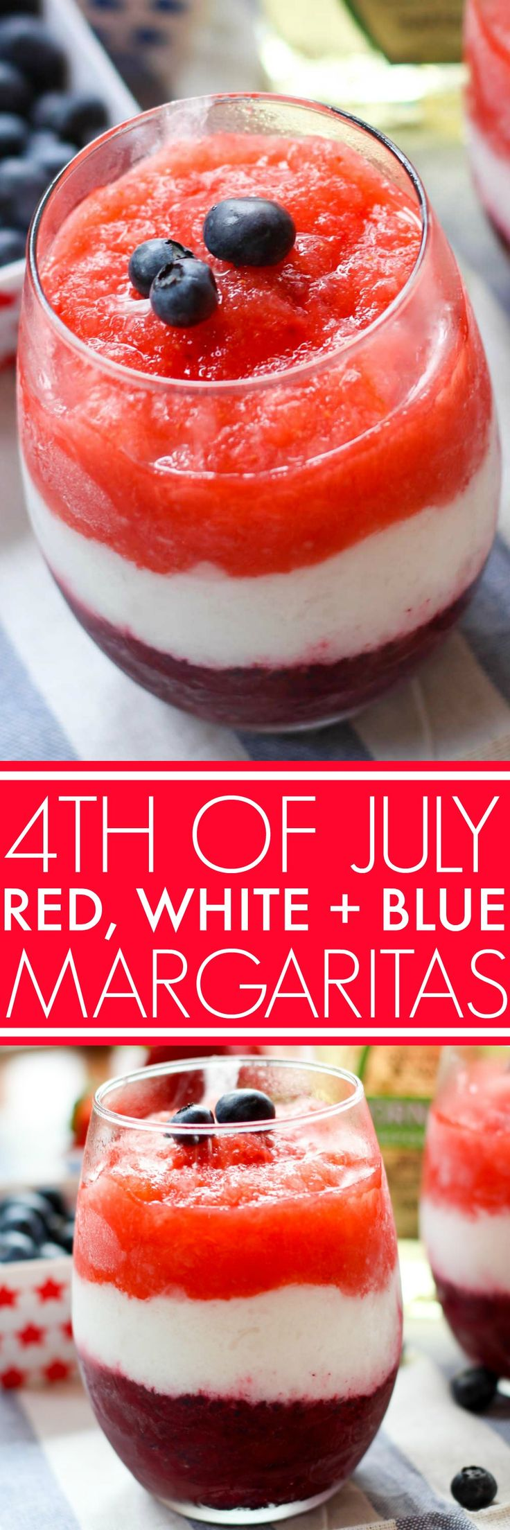 These Red, White & Blue Margaritas are the perfect refreshing cocktail for the 4th of July or Memorial Day! | platingsandpairings.com