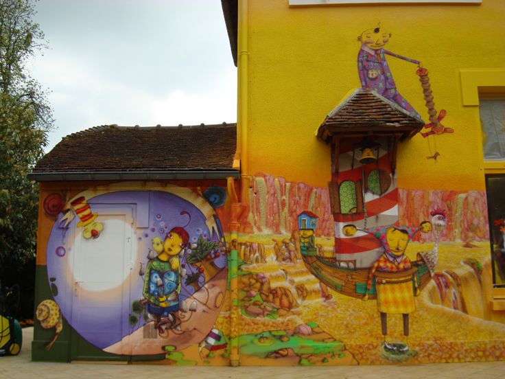 INSTALLATION FOR SLAVA'S POLUNIN HOUSE | OSGEMEOS Official Website – projects and news