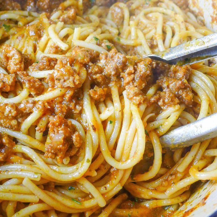 Bucatini Pasta with Pork Ragu recipe on Food52