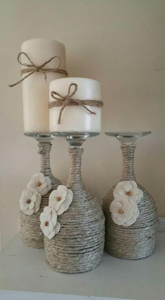 Weihnachtswein Glas Kerzenhalter; DIY Wohnkultur Ideen; Fröhliche Weihnachten