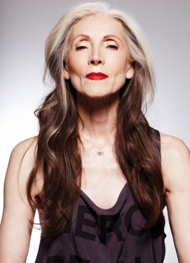 Eveline Hall 67! aging inspiration for sure. I want her hair at her age!