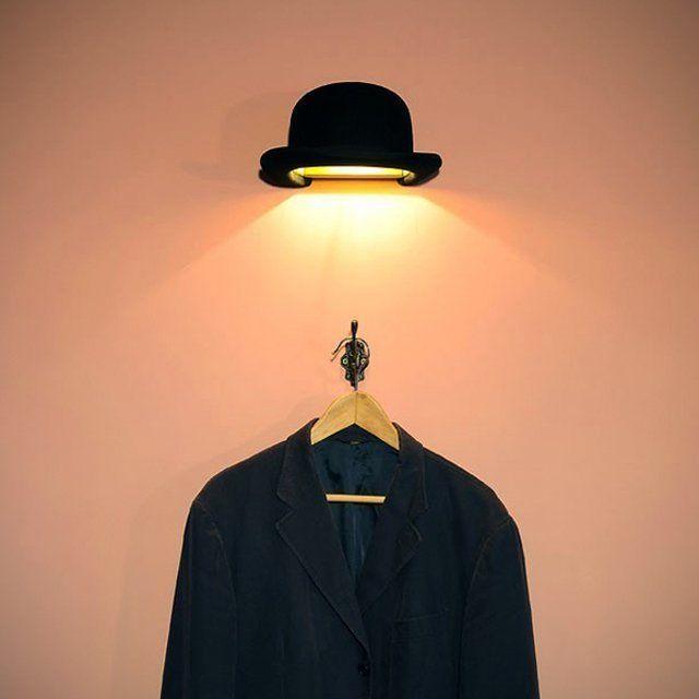 Fancy - Jeeves Bowler Wall Light
