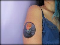 custom temporary tattoo using temp tattoo printer paper.