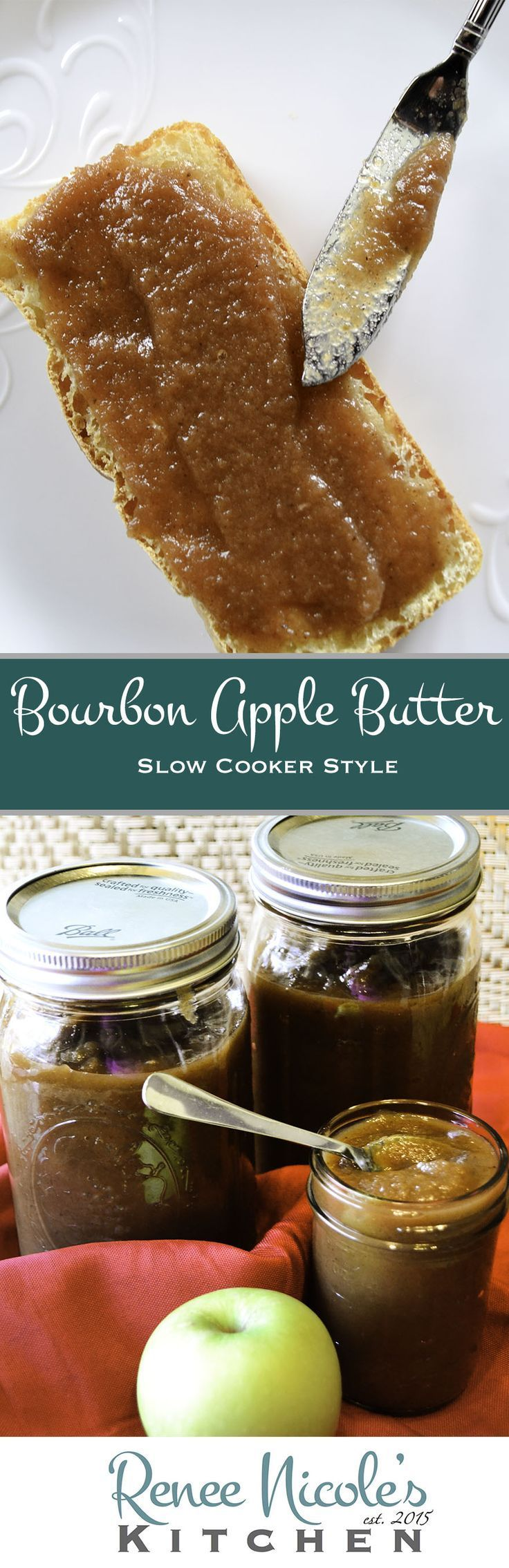 Slow Cooker Bourbon Apple Butter