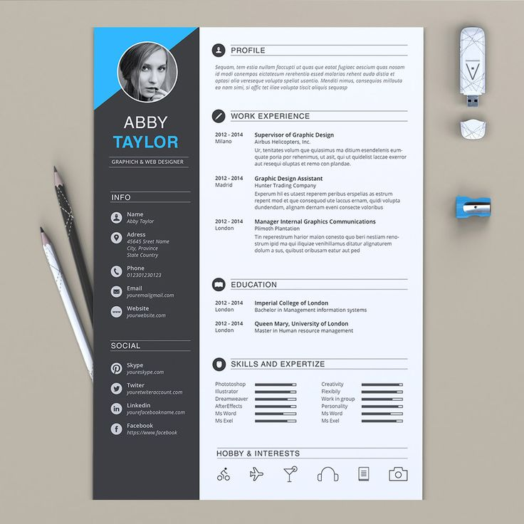 30 Eye-Catching Professional and Beautiful Resume Templates | www.ResumeDesignCo.com | #resumedesign #resumeinspiraton #resumedesignco