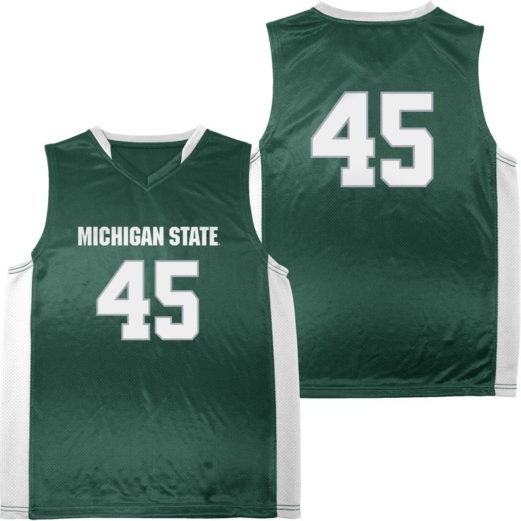 NCAA Youth Michigan State University Spartans Basketball Jersey, Size: Medium