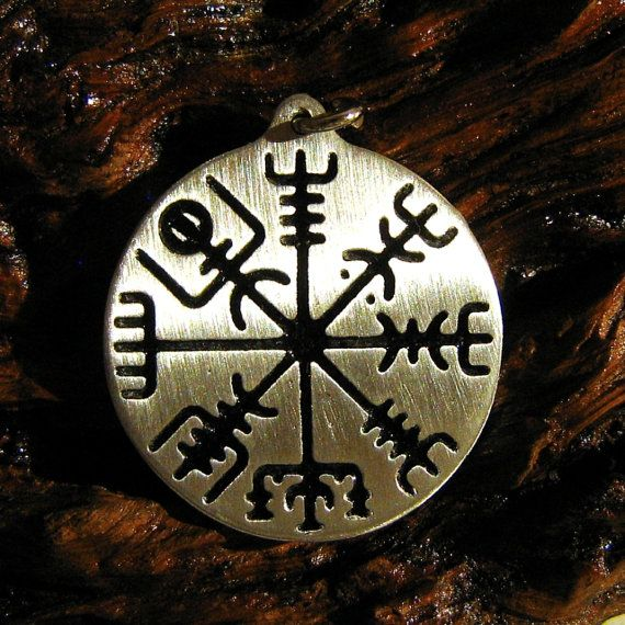 """-Vegvisir- Measures: 3,7 cm, thinkness 2 mm ( 1"""" x 1,5 """" , thickness 0,12 """" ) Materials: Tin \Silver ( ! Lead-free \Nickel-Free ! )"""