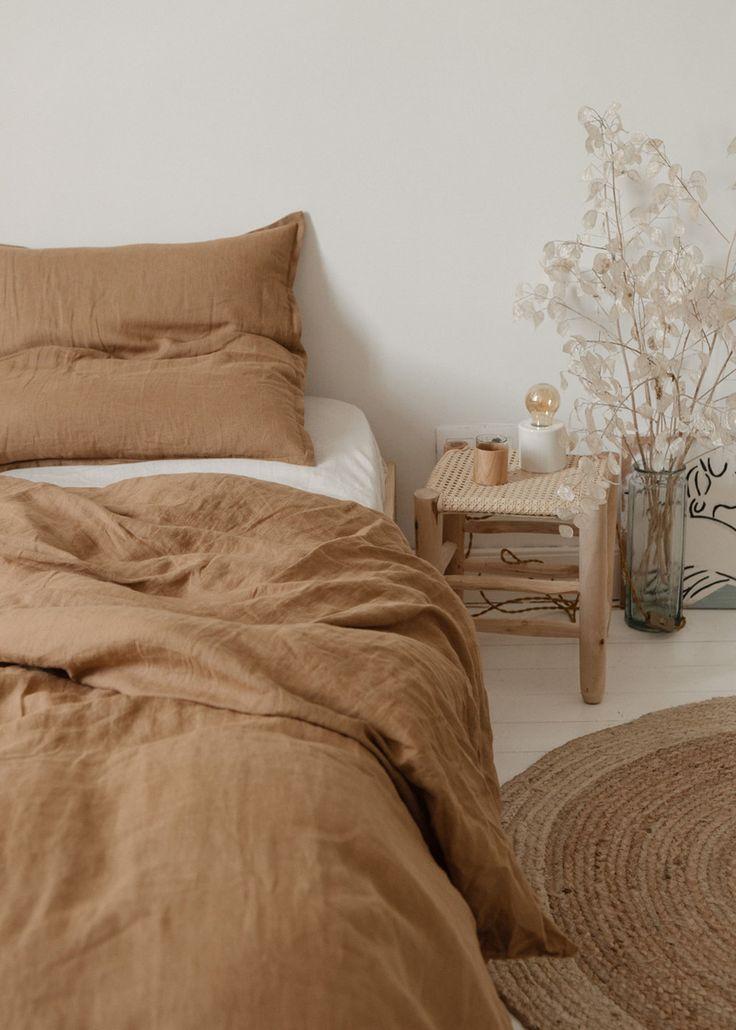 minimal neutral beige tone bohemian bedroom decor …