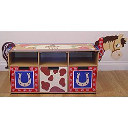 Kid's Cowboy Storage Bench$95 31 inches long x 11 inches deep x 15.75 inches high