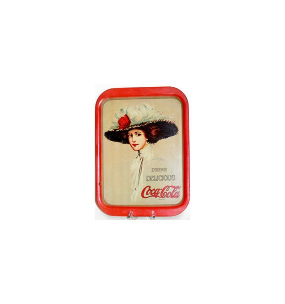 Coca Cola Collectibles Metal Tray Collectible Hamilton King 1909 Girl 1971 by VintageTerrace