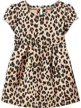 Ponte Leopard-Print Dresses for Baby | Old Navy