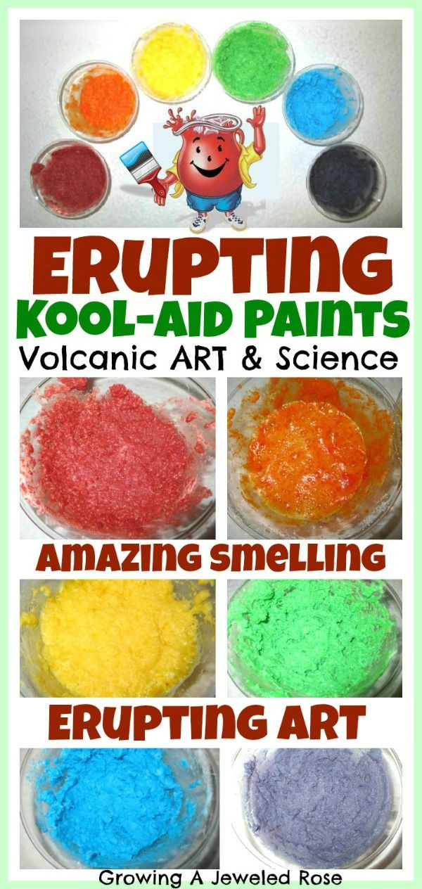 Erupting Kool-aid Paints #summerlearning #sweepstakes