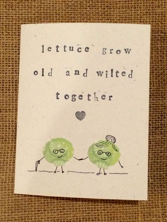 Lettuce Valentine Card by GidgetAndKacy on Etsy, $4.25