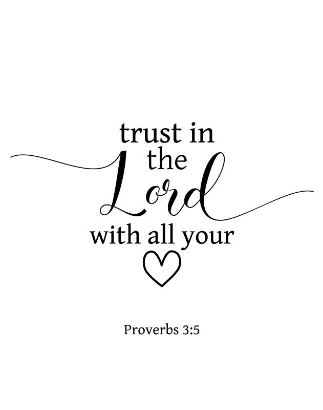 Trust In The Lord With All Your Heart Proverbs 3:5 – Christian Quote | Art Board Print