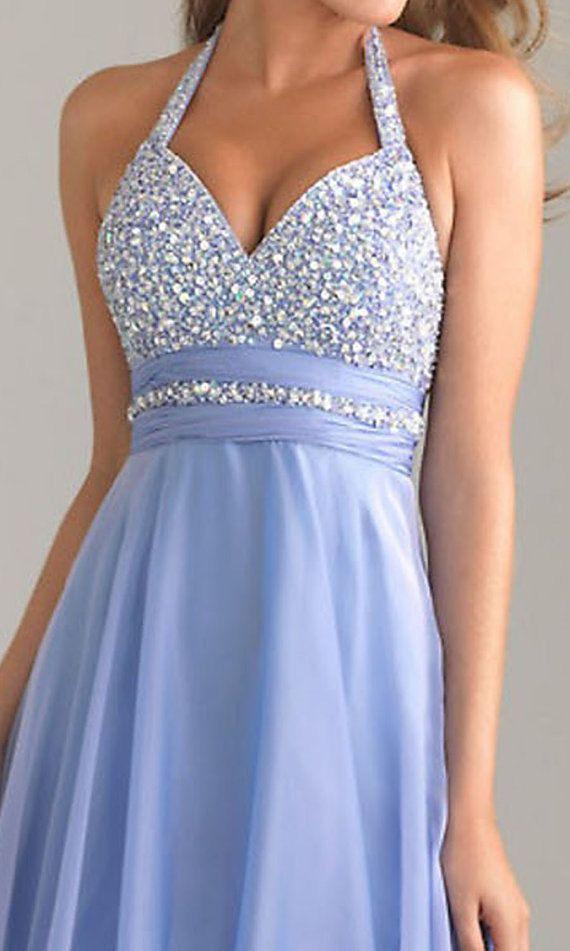 NEW fashion blue prom dress long prom dress cheap prom by VEIL8